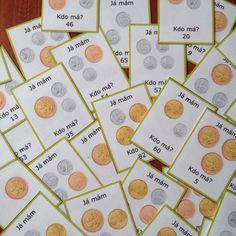 já mámk kdo má, mince, hra, finanční gramotnost Bullet Journal, Geometry