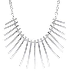 Look at this #zulilyfind! Silver-Plated Bar Statement Necklace #zulilyfinds