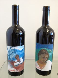 PAOLO SALVATI - bottiglie prova con etichette della Serie UNICA per la  Bottiglia d'Autore.
