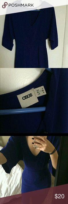Cobalt Blue midi Beautiful dolman sleeve dress. Very figure flattering.   Dresses Midi