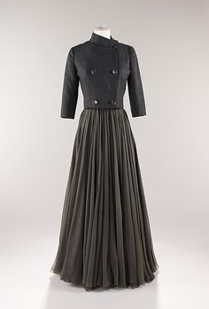Evening ensemble James Galanos  (American, born Philadelphia, Pennsylvania, 1924) Date: ca. 1954 Culture: American Medium: wool, silk
