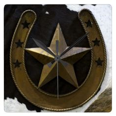 Shop Texas Lone Star Wall Clock created by RossiCards. Personalize it with photos & text or purchase as is! Texas Home Decor, Cool Clocks, Star Wall, Farm Animals, Display, Stars, Cool Stuff, Artwork, Prints