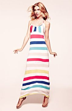FELICITY & COCO 'Candy Stripe' Jersey Maxi Dress