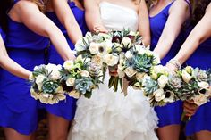 Interesting use of succulents   Vintage Style Preppy Wedding - Preppy Wedding Style