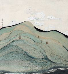 Avec un foisonnement de lignes et de points qui se mêlent l'artiste chinois Zhu Daoping arrive à peindre des paysages habités de petits personnages. Lire aussi : Les fruits détournés de Sarah Illenberger