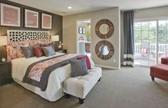 Photo credit:Zillow Digs  Easy to translate for our bedroom.   Expect to see solid accent walls, especially in red, fade away as wallpaper and textured wall coverings take the stage in 2015.