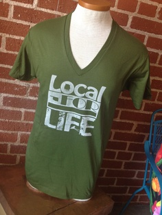 Local+for+Life+Olive+Green+Vneck+Shirt+Oklahoma+by+PromiseArt,+$28.00