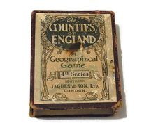 The Counties of England Geographical Card by WhiteHartAntiques