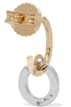 Maria Black - Jolie Blanc 18-karat Gold, Rhodium-plated And Diamond Earring - One size
