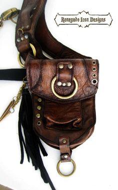 Leather Holster bag shoulder holster festival bag by Renegadeicon
