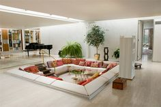 """Just read the term """"sunken living room"""" in a book, so of course I had to google what that was. Loving it!! This one feels very 60s."""