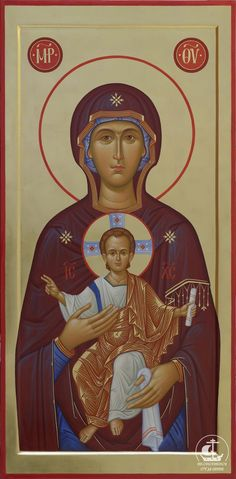 Blessed Mother Mary, Blessed Virgin Mary, Religious Icons, Religious Art, Greek Icons, Fortune Cards, Jesus Art, Byzantine Icons, Christmas Icons