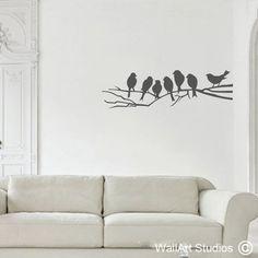 Birds on a Branch Vinyl Wall Art, Birds, Fun, Home Decor, Decoration Home, Room Decor, Bird, Interior Decorating, Funny