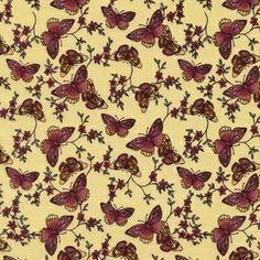 Timeless Treasures House Designer - Sofia - Butterflies in Straw