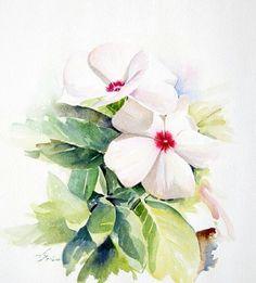 Periwinkle Flowers, Iris Flowers, Botanical Art, Watercolor Flowers, Flower Art, Floral Wreath, Sketch, Painting, Snow