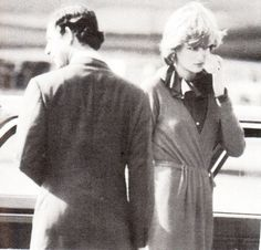 8 october Charles & Diana at the Airport as Charles goes back to Egypt for President Sadat's Funeral