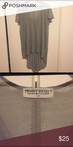 Anthropologie Project Social Tshirt Dress Green/Grey Asymmetrical tshirt dress. Never worn. Anthropologie Dresses Asymmetrical