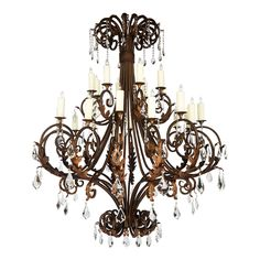 High end lighting Foyer Chandelier, Chandelier In Living Room, Beaded Chandelier, Chandelier Lighting, Wrought Iron Chandeliers, Elegant Chandeliers, Large Chandeliers, Mediterranean Chandeliers, Le Closet