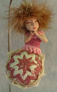 Pink Quilted Sleeping Ornament OOAK Fairy http://cgi.ebay.com/ws/eBayISAPI.dll?ViewItem=161087146407
