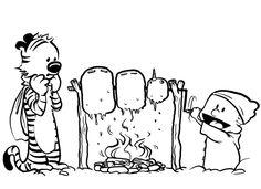 Calvin and Hobbes fan art, by Zalib