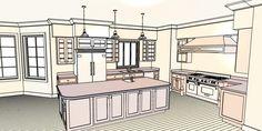 How to design your kitchen layout - kitchen design photos 20 Kitchen Design Program, Kitchen Cabinets Design Layout, Kitchen Design Software, Design Your Kitchen, Country Kitchen Plans, Kitchen Floor Plans, Layout Design, Küchen Design, Design Ideas