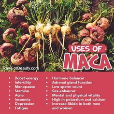 Maca - to help with PCOS and Hypothyroid.