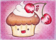 CUTE FOOD - cherry twins by Re-belle.deviantart.com on @deviantART
