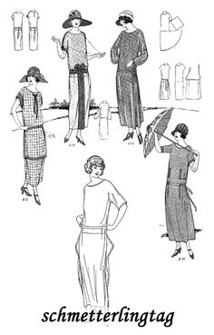 1920s Make a FLAPPER DRESS in 1 Hour 1924 Frocks Roaring 20w Glamor Fashions DIY Reenactor Seamstress Guide. $14.99, via Etsy.