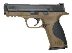 The Smith & Wesson M&P 9 is chambered in 9mm with a 17 round capacity. It has a 4.25 barrel, white dot low profile carry sights, and three polymer palmswell grip sizes. It has a stainless steel slide