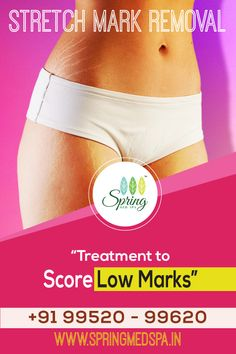 """STRETCH MARK REMOVAL   """"Treatment to score Low Marks""""   Stretch marks are caused due to stretching of dermis which may be due pregnancy or bodybuilding. Though it is not dangerous, it is unappealing and dreary. Lose the stretch marks once and for all at Spring med spa.   Visit SPRING MED SPA, Madipakkam. Contact: 09952099620   #Springmedspa #Stretchmarkremoval Stretch Mark Removal, Stretch Marks, Stretching, Bodybuilding, Pregnancy, Spa, Spring, Pregnancy Planning Resources, Stretching Exercises"""