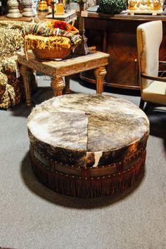 Round Ottoman With Fur Found At Avery Lane Fine Consignment In Scottsdale,  Arizona. Round OttomanScottsdale ArizonaOttomansRusticFurniture