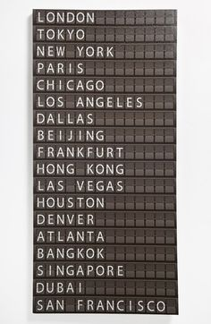 Departure Board Wall Art