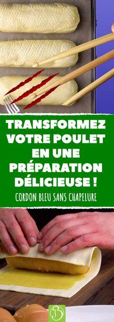 Voici une recette originale de cordon bleu feuilleté ! À la fois légère et complète, elle promet de faire frétiller vos papilles. #recette #recettes #cordonbleu #poulet #viande #ingredient #ingredients #feuillete #cordon #bleu