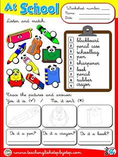 At School - Worksheet 4