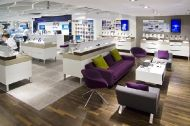 Some of our work at O2's flagship store.
