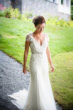 Gorgeous Jenny Packham: http://www.stylemepretty.com/new-york-weddings/2014/05/05/spectacular-adirondacks-broncos-wedding-on-lake-george/ | Photography: 49eyes - http://4eyesphotography.com/