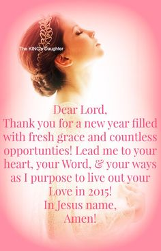 thank you for a new year filled with fresh grace and countless opportunities lead me