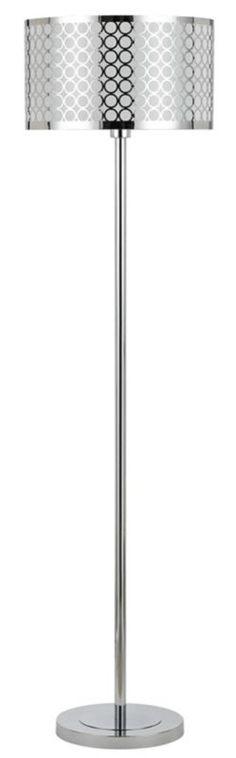 Portico Modern Chrome Laser Cut Shade Floor Lamp - #EUV8845 - Euro Style Lighting