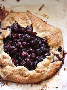 Sweet Cherry and Hazelnut Galette by Completely Delicious, via Flickr
