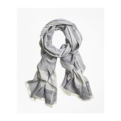 Shop Brooks Brothers Marled Stripe Scarf in Blue at Modalist |... ($59) ❤ liked on Polyvore featuring accessories, scarves, brooks brothers, blue shawl, brooks brothers scarves, striped shawl and striped scarves