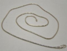 SOLID-925-STERLING-SILVER-24-LONG-SNAKE-CHAIN-NECKLACE-1-9mm-14g-MADE-IN-ITALY