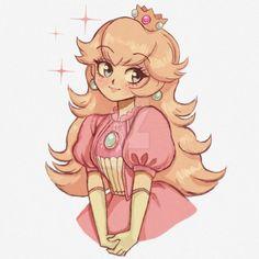 Princess Peach by on DeviantArt Mario Fan Art, Super Mario Art, Super Mario Brothers, Game Character, Character Design, Peach Mario, Nintendo Princess, Princesa Peach, Fanart