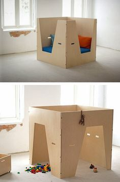 mommo design: PLYWOOD LOVE- reading nook and play house
