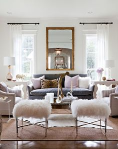 Love the color palette of this room, the variety of textures.