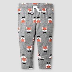 Baby Fox Print Jogger Pant Baby Cat & Jack™ - Grey. Image 1 of 1.