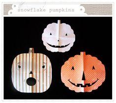 Snowflake Pumpkins from Mer Mag