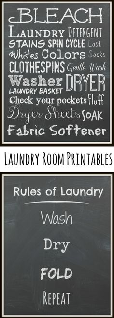 P&G Free & Clean Laundry Products - for sensitive skin. FREE Chalkboard Laundry Printables! #IC #ad #SecondSkincare   The TipToe Fairys