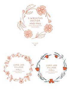 Ditsy Flower Patterns - Illustrations