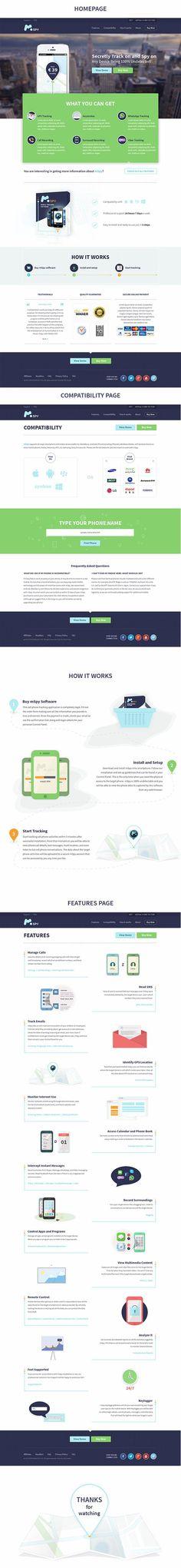mSpy - flat corporate website
