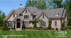 Ashland Manor II Plan # 10088, Front Elevation, Traditional Style House Plans, European House Plans
